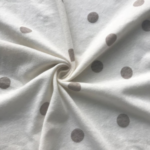 Wave dot linen print jersey fabric