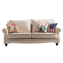 Hot Sale Europe du Nord Style 1 + 2 + 3 Set de canapé en tissu