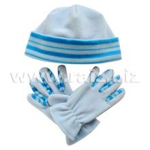 Conjunto de sombrero y guantes de lana polar