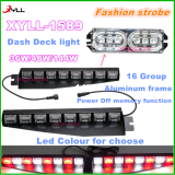 Auto DC 12V Strobe dash deck light Dash windshield 36W/48W/144W deck light visor light of all auto in sale