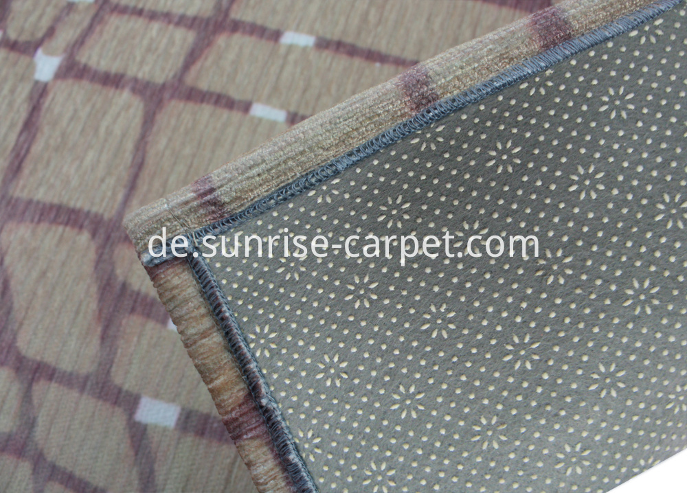 Polyester Dornier Rug with Anti-slip Backing
