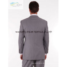 Elastische Plaid Worsted Woll Fabric40 % Wolle 30 % polyester27 % rayon3 % Elasthan