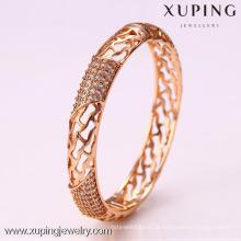 50923 Xuping senhoras designer de fantasia unfinsihed pulseiras de vidro indiano de madeira