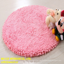 Luxury microfiber chenille bath non slip bathroom floor mat