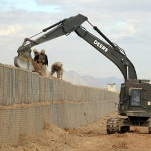 Welded Military Digunakan Gabion Hesco Barrier