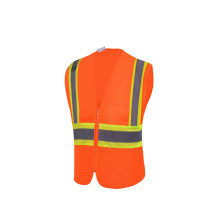 EN ISO20471 Orange Bicycle Safety Vest for Road