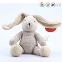 ICTI audits OEM factory stuffed plush white rabbit toy ,long ear plush rabbit toy with clothes