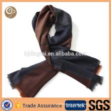 Contrast unisex color woven mens cashmere scarf