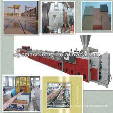 wood plastic decking board floor profile machine