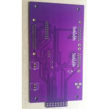China for Purple PCB Quick tunr 2 layer 1.6mm purple solder ENIG PCB export to India Supplier