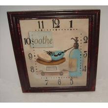 Indoor Square MDF Wall Clock