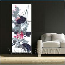 Pintura decorativa da lona da flor por atacado chinesa