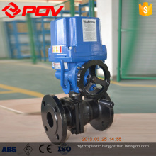 high quality explosion proof wcb motorized ball valve