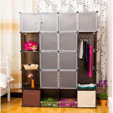 Marrón y blanco Organizador de almacenamiento de plástico, productos de almacenamiento para el hogar