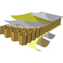 Paneles de panal de aluminio de varias especificaciones.