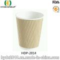 12 oz Ripple descartáveis Wall café de copo de papel (HDP-2014)