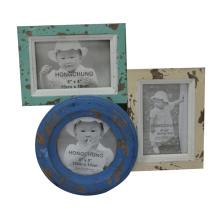 Cadre de photo en bois connectable en détresse pour Home Deco