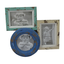 Distressed Connectable Wooden Photo Frame for Home Deco