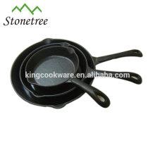 Sartén / sartén de hierro fundido con revestimiento pre-sazonado
