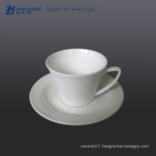 wholesale pretty bone china green tea cups / white teacups and saucers for sale
