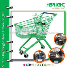 fresh store shopping trolley for food
