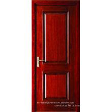 Porta de artesão de madeira de painel levantada