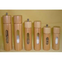 Manual Bamboo Pepper & Salt Mill