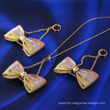 Hot Sale Xuping Fashion Multicolour Bowknot Jewelry Set (60982)