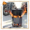 Дешевые нержавеющей стали открытый кемпинг дровяная печь