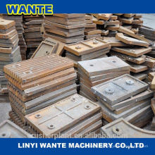 Backenbrecherplatte, hohe Mangan-Stahl-Backenplatte, Backenplatte für Brecher