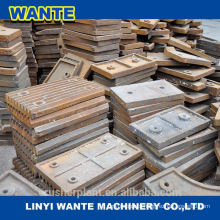 jaw crusher plate, high manganese steel jaw plate ,jaw plate for crusher