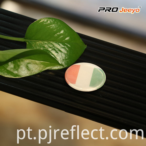 Reflective High Visibility Security Italia Flag Pin Brooch
