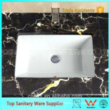 A8609 OVS ceramic undercounter rectangular wash basin
