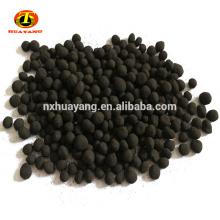 900mg / g min carbón activado esférico a base de carbón del valor del yodo para la purificación del gas