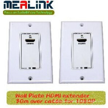 30m Wall Plate HDMI Extender Over Cat6e for 1080P
