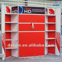 customize display exhibition system, aluminium exhibition stand with shelves from shanghai china