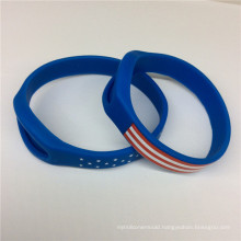Logo OEM Custom National Flag Fashion Silicon Rubber Wrist Band