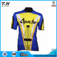 Men′s Sublimation Printing Coolmax Short Sleeve Cycling Jersey / Cycling Wear