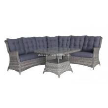 Móveis de vime ao ar livre de vime Lounge sofá conjunto jardim