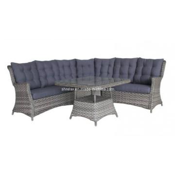 Muebles de mimbre al aire libre de mimbre salón sofá conjunto jardín