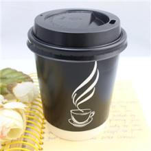 Copo de papel descartável bebendo quente do café da fábrica do OEM com tampa