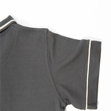 WFF03-Tshirt en maille gaufrée grise