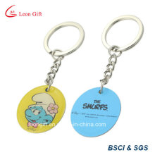 Round Shaped Stainless Steel Key Ring with Metal Metail