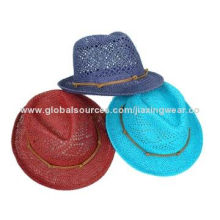 Children Paper Straw Hat, Various Styles and Colors are Available, OEM Orders are Accepted