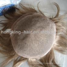 100 remy humain pour toupee invisibles pour les hommes