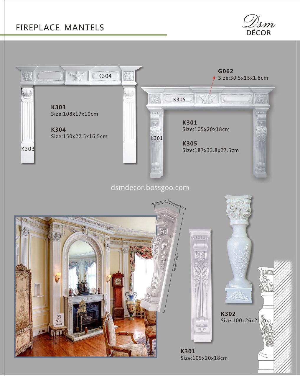 Fireplace Mantels, Pu Fireplace