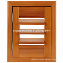 Persianas de la ventana del Louvre ajustable del cedro rojo de la madera de China