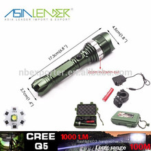 Q5/5W-1200 Lumens, High Power Aluminium LED Focus Flashlight with 1*18650 Battery