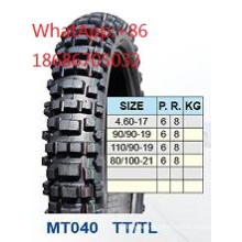 Motorcycle Tyre 4.60-17 90/90-19 110/90-19 80//100-21
