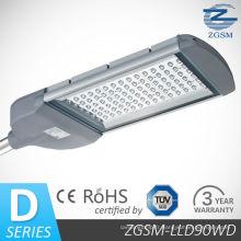 90W IP65 en aluminium LED Street Light avec une luminosité élevée